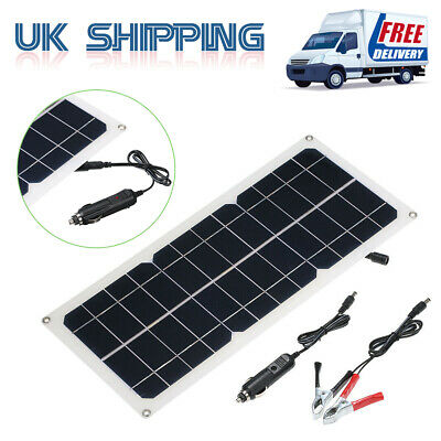 10W DC5V/DC12V Output Solar Panel Charging with USB Interface Car Charger UK