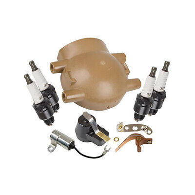 Ford 8N 9N 2N Ignition Tune up kit, Plugs & Cap - Front Mount Distributor