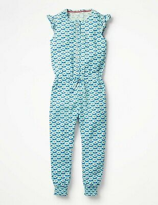 Jumpsuit 5-6y Girls Mini Boden New Sample Floral Flutter Sleeve Outfit Playsuit