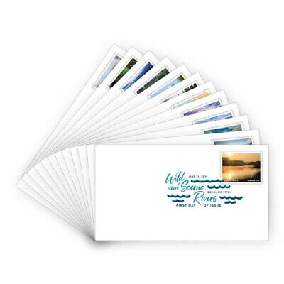 USPS New Wild and Scenic Rivers Digital Color Postmark (Set of 12)