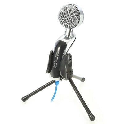 USB Condenser Microphone Mic Studio Audio Sound with Stand