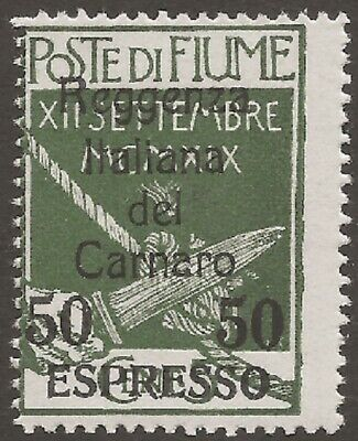 FIUME Express Stamps: 1920 (Nov) 50c on 5c - 8661