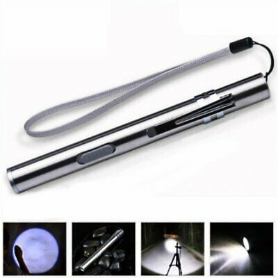 Waterproof LED Flashlight USB Rechargeable Pocket LED Torch Mini Penlight Lamp