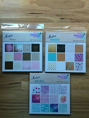 Merci Scrapbooking Mini Stack 36 Printed Papers - 150x150mm - 12 designs in pack