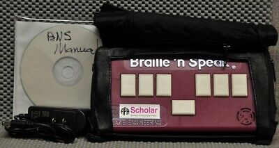 Blazie Braille 'n Speak BNS APH Scholar freshly serviced & Case Charger, Manual
