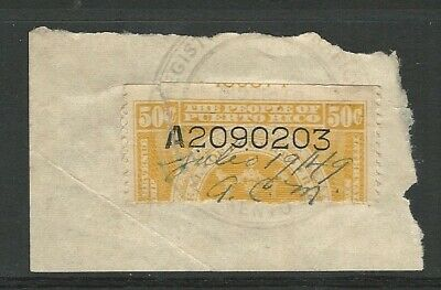 Puerto Rico: Stamp of 1949 bisected in fragment, with number ...PR01