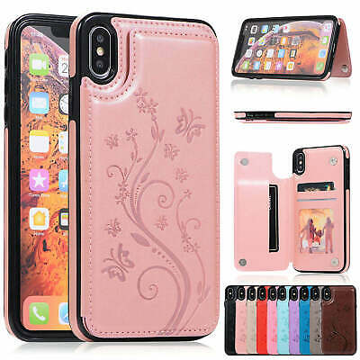 Case Cover For iPhone XS Max XR X 8 7 6 Plus Magnetic Leather Wallet Phone Case