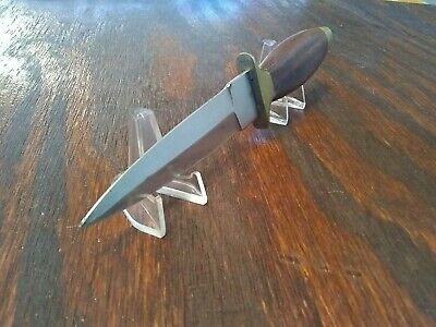 Double Edged Dagger Boot Fixed Blade Knife Wood Handle