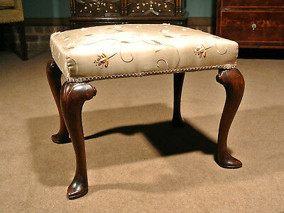 George II Walnut Stool c.1740