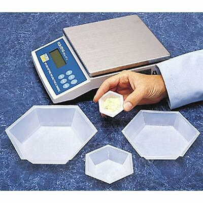 Plastic Hexagonal Weighing Dishes Weigh Boats Medium 100pk Science Lab ""