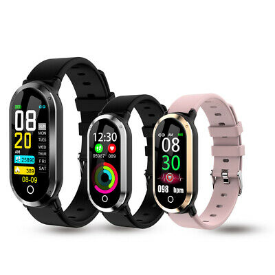T1 Blood Pressure Oxygen Monitor Smart Watch Waterproof Bracelet for iOS Android