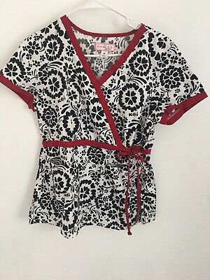 a6c9df9a86a Koi Medium Floral Scrubs Uniform Nurse Hospital Medical Professional. EUC  LSS1