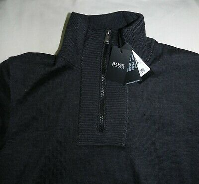 690a63f1e Men's Hugo Boss Eleo exclusive Quarter Zip Sweater in Grey - XL - New with  Tags
