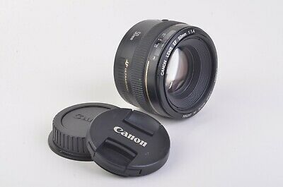 EXC+++ CANON EF 50mm F1.4 USM PRIME LENS, GENTLY USED, CAPS, SHARP!
