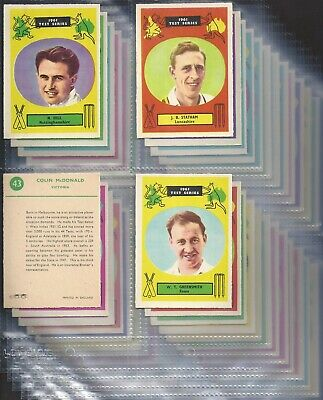 A&BC-FULL SET- CRICKET 1961 TEST SERIES (90mm x 64mm (X48 CARDS)) - EXC+++