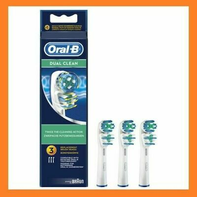 Braun Oral-B Dual Clean Toothbrush Replacement Heads Pack Of 3