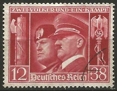 Germany Third Reich 1941 Used - Mussolini and Hitler Waffenbruederschaft
