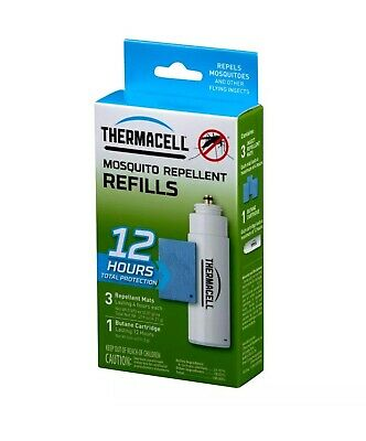 ThermaCELL Mosquito Repellent REFILL 12 hour 3 mats 1 cartridge FREE SHIPPING