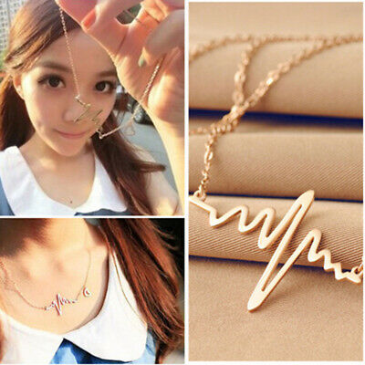 Stylish Female Music Note Gold Bib Chain Necklace Jewelry Pendant Gifts QK