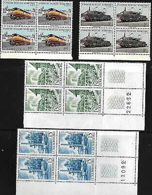 Luxembourg 28 Blocks of 4 Stamps Between Scott #442 and #483 MNH 1966-1969