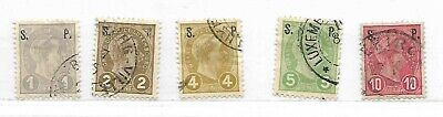 Luxembourg 5 Official Stamps Scott #O75 - #O79 Used Overprinted S. P. 1895