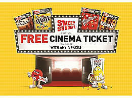 sweet sunday codes for 2 x cinema tickets:Cineworld Empire Showcase Reel & more!