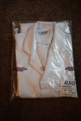 """Warehouse Coat Size 42"""" (108Cm) Cleaning, Mens/Ladies Lab Coat In White Check"""