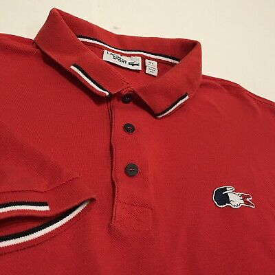a05b5986d NWT LACOSTE LIMITED EDITION CHINA RED STAR FLAG White Polo Shirt 2 ...