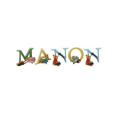 Official Licensed Beatrix Potter Peter Rabbit Boys Name Manon Alphabet Letters