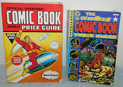 2 Overstreet Comic Book Price Guides #30 & #34 Edition