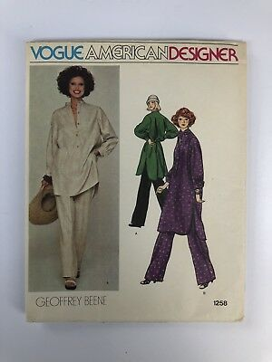 VTG VOGUE American Designer GEOFFREY BEENE Dress Pants Uncut Pattern Sz 14 #1258