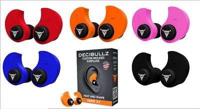 DECIBULLZ Custom Moulded Ear Plugs Hearing Protection Defenders Shooting