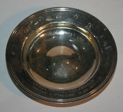 Solid Silver Tray 1977 Queen opening U.K.W.A.L terminal Middlebrough (82 grams)
