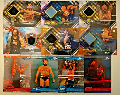 Topps WWE CHAMPIONS Trading Cards 2019 WRESTLING PATCHES  & NUMBERED CARDS
