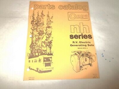 Onan NH RV electric generating plants parts catalog