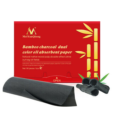 Meiyanqiong Bamboo Charcoal Dual Color Olio Assorbente Carta Detergente Vis Q1X8