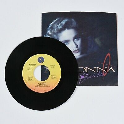 Madonna, Live to Tell, 45 RPM Vinyl Record with Original Sleeve