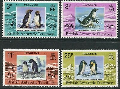 BR. ANTARCTIC BAT Sc#72-75 1979 Penguins Complete Set OG Mint NH