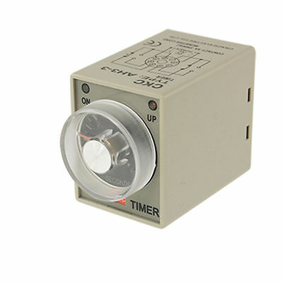 H● AH3-3 0-10 Second Delay Timer Time Relay 8 Pin DPDT DC 24V.