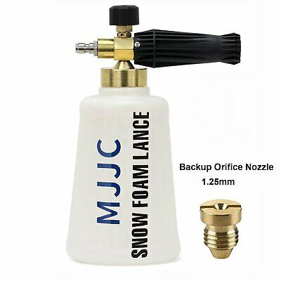 "2L Wash Bottle Snow Foam Lance with 1/4"" Quick Connector for Pressure Washer Gun"