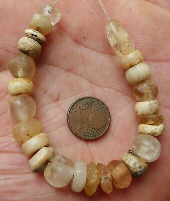 11mm Perle Ancien Afrique Ancient Mali Niger African Neolithic Agate Quartz Bead