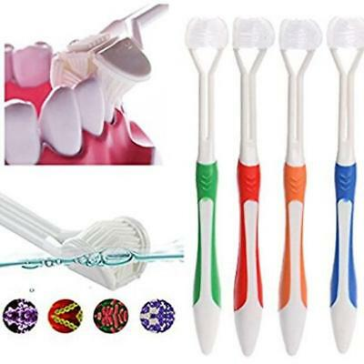 Triple Dental Cleaning Oral Care Toothbrush Deep Sweep Tooth Soft Brushes QK