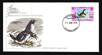 British Antarctic Terr 1979 8c Penguins FDC - Z15131