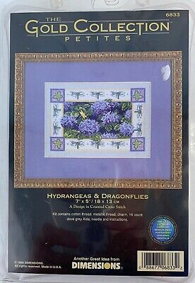 Dimensions Gold Collection Petites Hydrangeas & Dragonflies Cross Stitch 6833