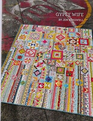 Gypsy Wife - fabulous colourful pieced quilt PATTERN - Jen Kingwell
