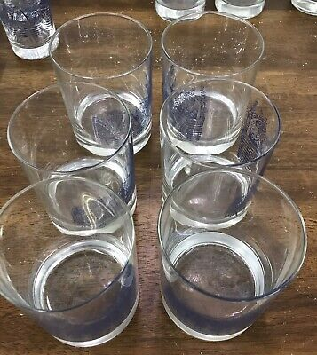 Longaberger Pottery - Woven Traditions Classic Blue Pattern  6 Drinking Glass