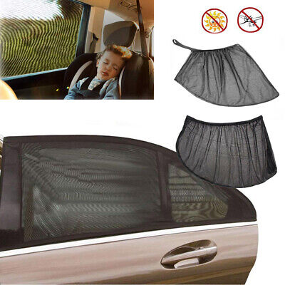 2/4PC Auto Sun Shade Front Rear Window Screen Cover Sunshade Protector For Car
