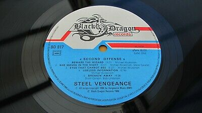 Steel Vengeance SECOND OFFENSE 1988 FRENCH 1st Press ONE PLAY MINT MINUS AUDIO