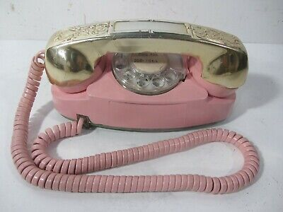 "Vintage Western Electric PINK Model 702BM ""Princess"" Rotary Dial Telephone"