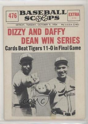 1961 Nu-Cards Baseball Scoops #476 Dizzy Dean Paul St. Louis Cardinals Card